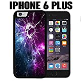 iPhone Case Cracked Screen Prank for iPhone 6 PLUS Rubber Black (Ships from CA)