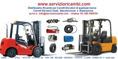 ACQUISTA RICAMBI per CARRELLI ELEVATORI MULETTI e TRANSPALLET per qualsiasi marca,