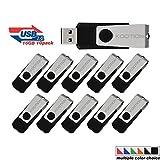KOOTION®10 Pack 16GB Usb Flash Drive 10pcs Flash Drive Memory Drive Memory Stick Thumb Drive Pen Drive In Black