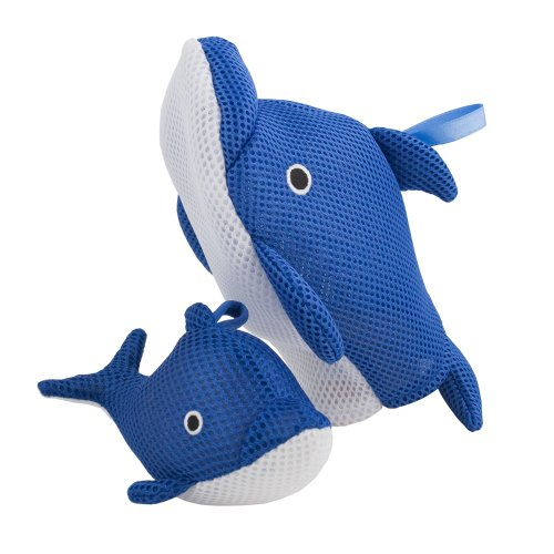 Rich Frog Wacky Wash Mitt and Bath Sponge Combo - Dolphin