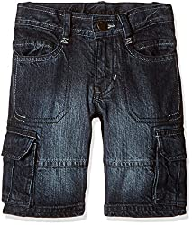 UFO Boys' Shorts (AW-16-DF-BKT-281_Indigo_6 - 7 years)