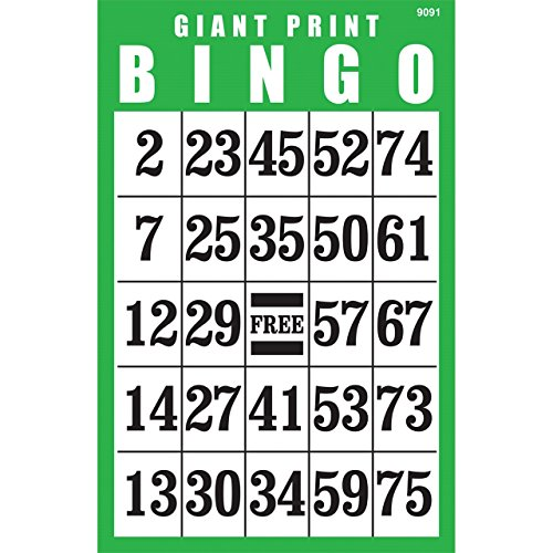 Best Buy! Giant Print BINGO Card- Green