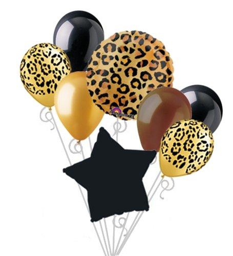 Cheetah Print Balloon Bouquet Set Party Decoration 8pc - 1
