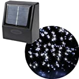 AGPtek® 55ft 100 LED Solar String Fairy White Lights Outdoor Garden Xmas
