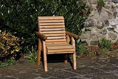 Wooden Garden Chair / Furniture / Patio Set High Back Roll Top