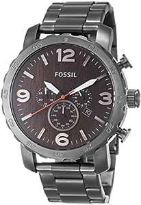 Fossil - JR1355 - Montre Homme - Quartz Analogique - Chronomètre - Bracelet Acier Inoxydable Gris