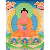 Amitabha - The Buddha Of Infinite Light - Tibetan Thangka Painting