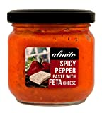 Almito, Spicy Greek Red Peppers Paste with Feta Cheese, Net weight 190g, Glass jar