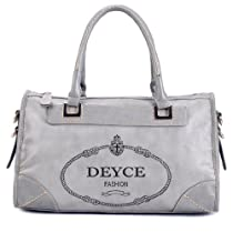 Hot Sale SSQ00224 Deyce 'Singature' Quality PU Close-Out Hobos (Grey)
