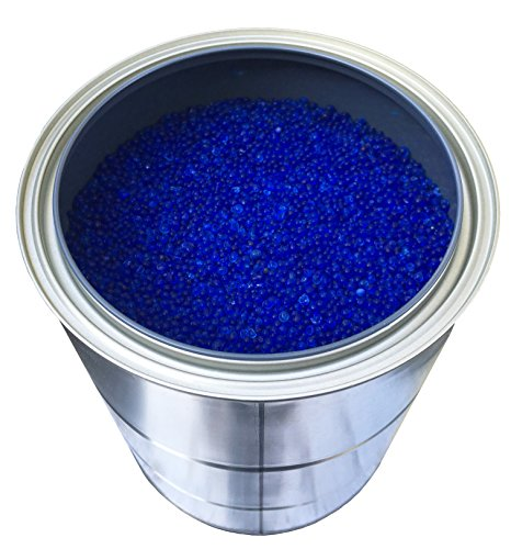 5 Pounds of Industry Standard 3-5 mm Large Blue Beaded Indicating Silica Gel Desiccants and Dehumidifier (6 LBS TOTAL)