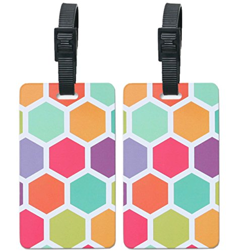 orb-travel-pt201-honeycomb-multi-colour-2-pack-luggage-name-tags-id-label-set-of-2-tags-business-car