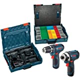Bosch CLPK22-120AL 12-Volt Max Lithium-Ion 2-Tool Combo Kit Drill/Driver and Impact Driver with 2 L-BOXX Tool and Accessory Cases, 2 Batteries and Charger