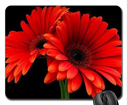 soul burning red Mouse Pad, Mousepad (Flowers Mouse Pad)
