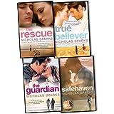 Nicholas Sparks 4 Books Collection Pack Set RRP: £31.96 (The Rescue, Safe Haven, The Guardian, True Believer) Nicholas Sparks