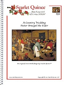 Scarlet Quince BRE001lg A Country Wedding by Pieter Bruegel Counted Cross Stitch Chart, Large Size Symbols