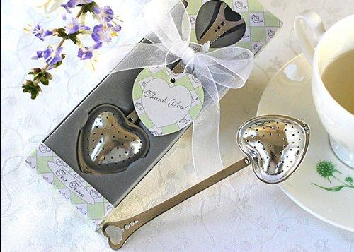 Teatime Heart Tea Infuser Favor In Teatime Gift Box (Set Of 48)
