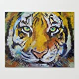 Society6 - Tiger Psy Trance Stretched Canvas by Michael Creese