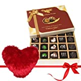 Valentine Chocholik's Belgium Chocolates - Maison Selection Of Dark And Milk Chocolate Box With Heart Pillow