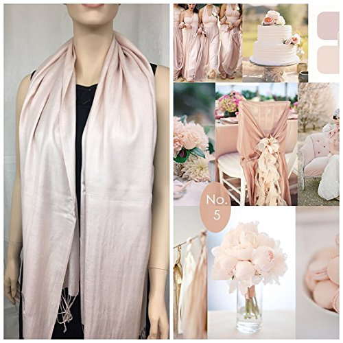 Blush champagne Pashmina Scarf Shawl / Wedding Chair Wrap/ Bridesmaid Shawl / Wedding Favor / Spring Summer Wedding /