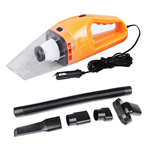 Iuhan® Fashion 12V 120W Suction Mini Vehicle Car Handheld Vacuum Dirt Cleaner Wet & Dry (orange) (Car Vacuum Cheap compare prices)
