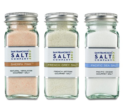 4oz Salt Shaker 3 Pack: Himalayan Salt, French