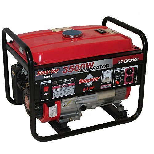 Smarter Tools Gasoline Powered Portable Generator, 3500 W
