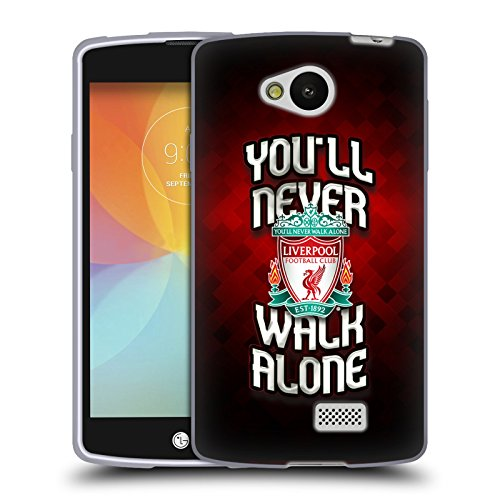 Ufficiale Liverpool Football Club Rosso Pixel Crest YNWA Cover Morbida In Gel Per LG F60 D390N / D392 Dual SIM