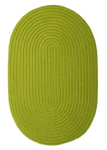 Boca Raton Polypropylene Braided Rug, 5-Feet by 8-Feet, Bright Green