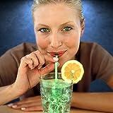 Green Glow Stick Drinking Straws (Set of 25)