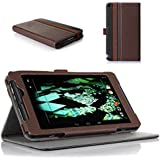 ProCase NVIDIA Shield Tablet Premium Folio Cover Case with Stand, Multiple viewing Angles Stand Cover Case Exclusive for NVIDIA Shield gaming tablet (Brown/Black)