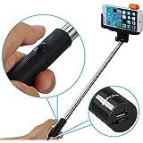 Mpow iSnap Pro 2-en-1 Perche de Selfie stick sans fil Bluetooth monopode pour iPhone 6s 6 6 plus 5 4, Samsung Galaxy et Android Smartphones, 20-97cm de longue, Meilleur choix pour divertissement familial, les amis et les photos de groupe