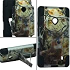 For Nokia Lumia 521 Windows Phone 8 Hybrid Case Cover Deer Hunting Y Stand