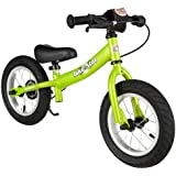 BIKESTAR® Premium Kids Safety Balance Bike for brave explorers aged from 3 years ★ 12s Sport Edition ★ Brilliant Green