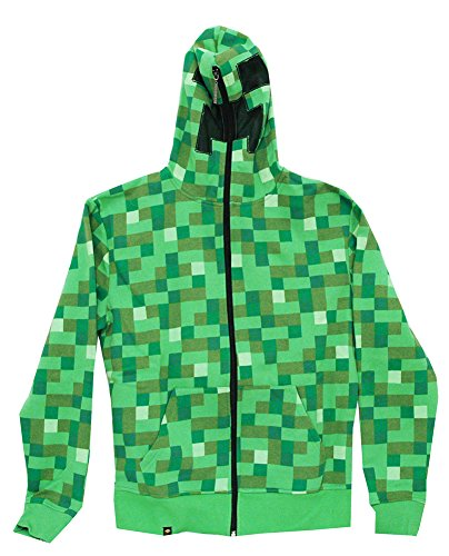 Jinx Men's Minecraft Creeper Premium Zip-up Hoodie