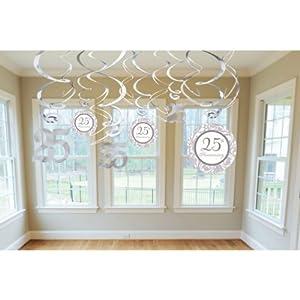 Amazon.com: Amscan Elegant Decorative Swirl Anniversary Party Supplies