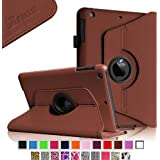 iPad mini Case - Fintie iPad mini 3 / iPad mini 2 / iPad mini Case, 360 Degree Rotating Multi-Angle Stand Smart Cover with Auto Wake/Sleep Feature, Brown