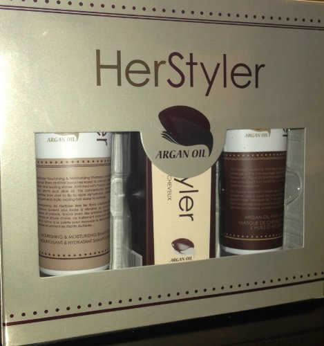 Herstyler Hair Care Trio Set Argan Oil Treatment Hair Serum,shampoo & Mask