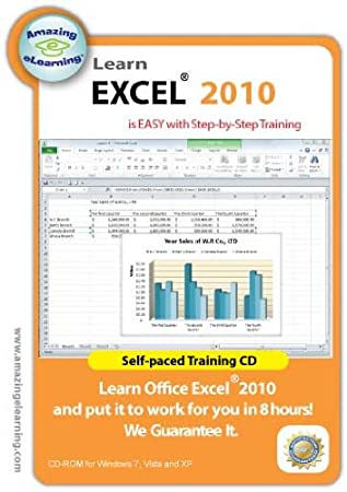 Learn Microsoft Excel 2010 Interactive Training CD Course