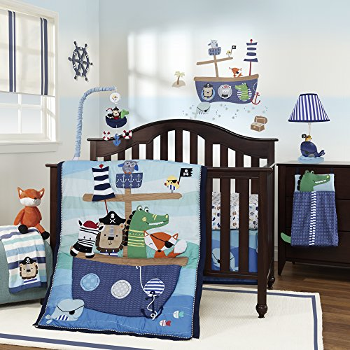 Lambs & Ivy Little Pirates 4 Piece Bedding Set