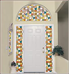 Savannah Stained Glass Privacy Window Film - 24 in x 43 in