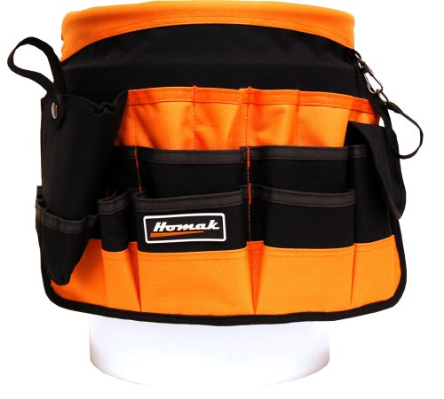 HOMAK TB00102038 10-Inch Bucket Bag with 38 Pockets