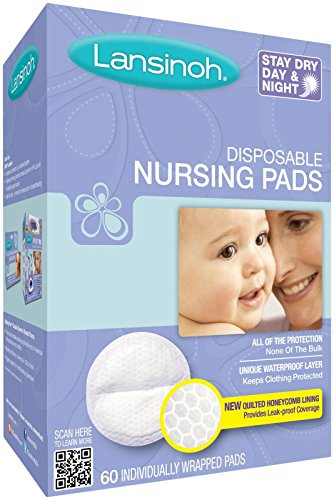 Lansinoh Disposable Nursing Pads, 60 Count. - 1