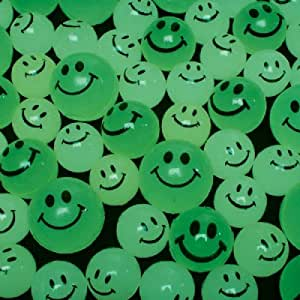 Rhode Island Novelty Glow In The Dark Smile Face Balls