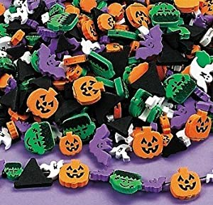 Halloween Foam Beads - Witch's Hats, Ghosts, Bats, Monsters, Pumpkins
