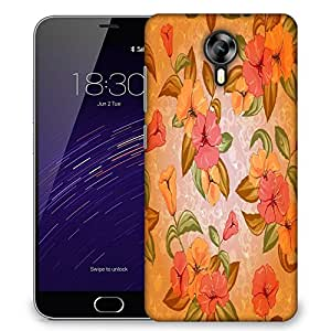 Snoogg Colorful Flowers Designer Protective Phone Back Case Cover For Meizu M2