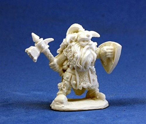 Dwarf Warrior - Dark Heaven Bones Miniature by Reaper - 1