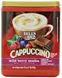 HILLS BROS CAPPUCCINO WILD BERRY MOCHA DRINK MIX 453g TUB AMERICAN
