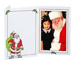 SANTA photo insert holiday folder frame for 4x6 prints sold in 20s - 4x6