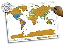 World Map - Scratch Map Poster 23 x 32in
