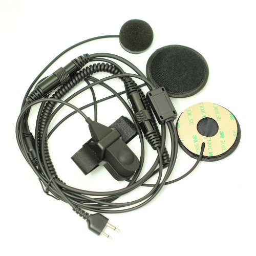 Full-Face-Moto-Motorcycle-Bike-Helmet-Earpiece-Headset-Mic-Microphone-for-2-pin-Icom-Maxon-Yaesu-Vertex-Radio